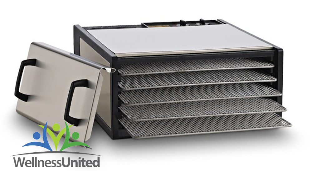 5-tray-excalibur-stainless-steel-dehydrator-with-26hr-timer